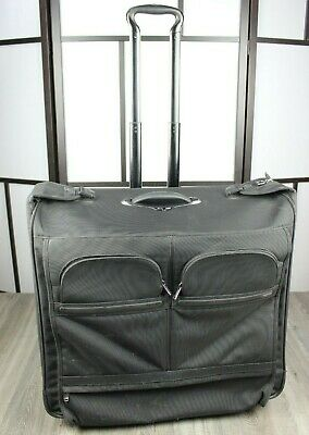 "Tumi Rolling Garment Bag Suit Case G4 Alpha Model #22033D4 Black 22"" 2 Wheels"