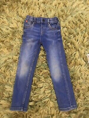 Next Boys Age 3-4 Years Blue Denim Jeans Adjustable Waist H75