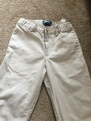 Polo By Ralph Lauren Boys Kids Cream Smart Chino Trousers Age 5 Years
