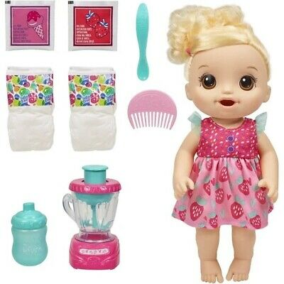 Baby Alive MAGICAL MIXER BABY Blonde Doll w/ Accessories E6943 New/Sealed