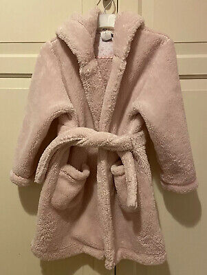 Girls Jasper Conran Junior J Pink Soft Dressing Gown 2-3 Years