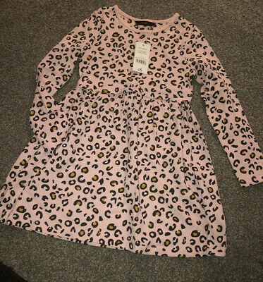 Girls Pink Print Tunic Dress from George, Age 5-6, New With Tags. BNWT