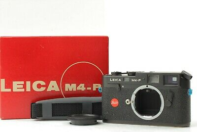 RARE!!【UNUSED IN BOX & OVERHOULED!】Leica M4-P Black Rangefinder From Japan 392