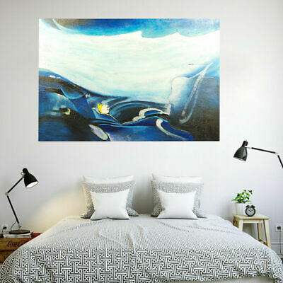 Framed Modern Abstract Oil Painting Stretched Canvas Wall Art Home Decor Glacier
