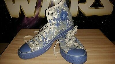 "Converse All Star Chuck Taylor ""Blue Bio Hazard Camo"" Used SKU 1W317 SZ 10M/12W"