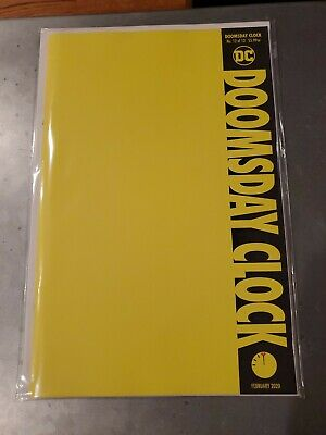 Doomsday Clock #12 (of 12) WATCHMEN YELLOW BLANK Cover Variant - High Grade