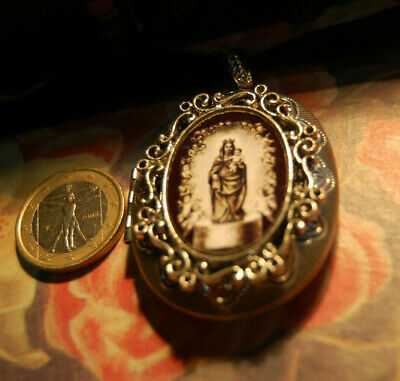 VIRGEN DEL PILAR VIERGE VIRGIN HISPANITÉ  Locket Photo Pendant Necklace