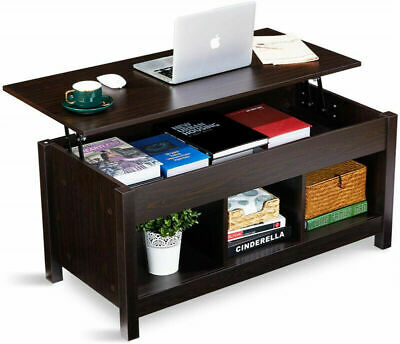 Living Room Lift Top Dining Table Coffee Table Lift Tabletop W/ Compartment New