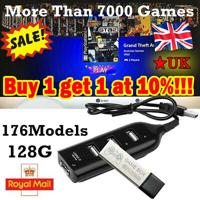 128G PS1 MINI True Blue Mini Crackhead Pack For Playstation Built-in 7000 Games!