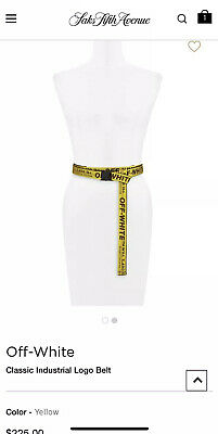 NWT Authentic Off White Industrial Tie Down Yellow Belt Virgil Abloh Unisex