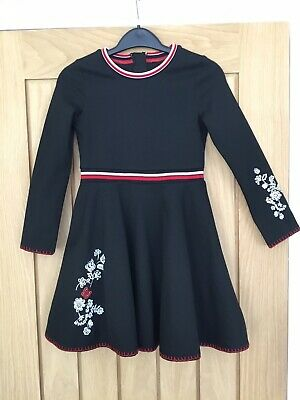 Girls Marks And Spencer Dress, Age 8-9 Years, Black, Winter