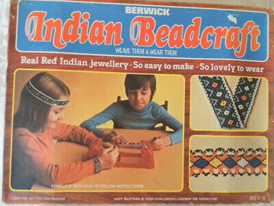 1978 Berwick Indian Beadcraft weaving loom headband Indian Jewellery constructio
