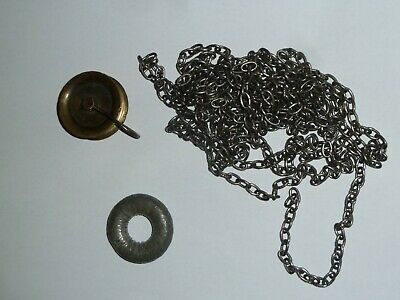 Antique 30 hr longcase clock chain pulley & donut ring c1800 - 42 links/foot