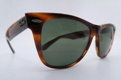 Vintage B&L Ray Ban Wayfarer II sunglasses etched BL lens made in the USA