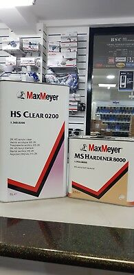 Max Meyer 0200 2K Clear Coat Car Lacquer 7.5 Ltr Kit With 8000 Hardener