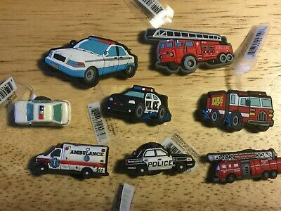 Emergency Service Vehicle Police Fire Authentic Jibbitz Shoe Charm Fit Crocs