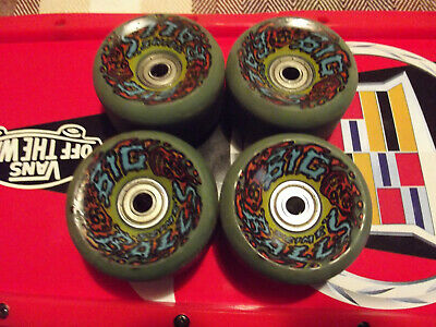 Santa Cruz Big Slime Balls Blue Skateboard Wheels 65mm 92a OldSchool Vintage