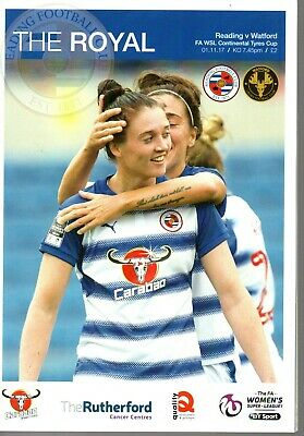 Reading v Watford Ladies 1 November 2017 Womens WSL Cont Tyres Cup Programme