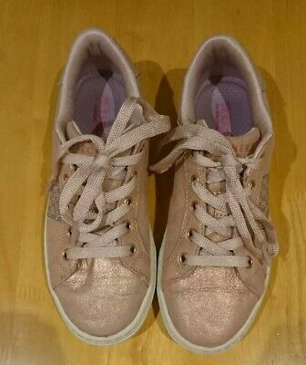 Girls rose gold Sketcher Trainers - Size UK 1