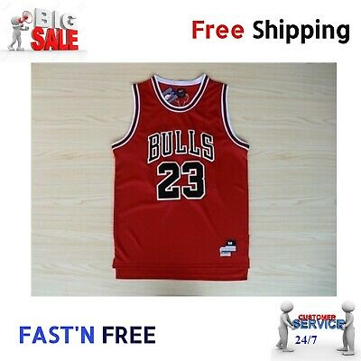 New York Red Chicago Bulls Jersey NBA #23 (L) NY Basketball Shirt for Mens-Large