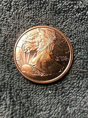.999 Copper Round 2011 Walking Liberty Limited Quantity Available 1 oz