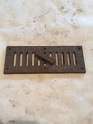"Antique  Original A.KENRICK & SONS 9"" x 3 1/4"" cast Iron  Hit & Mis Air Vent"