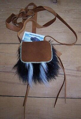 Hand Made Small Skunk Bag  Rendezvous Black Powder Mountain Man 30