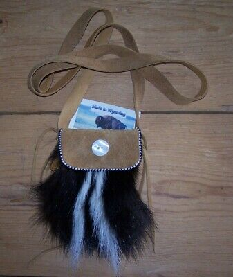Hand Made Small Skunk Bag  Rendezvous Black Powder Mountain Man 32