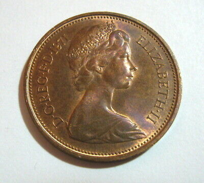 Original Extremely Rare 2p Coin - 1971 2p New Pence, two penny * Beautiful ***