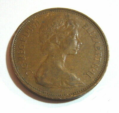 Original Extremely Rare 2p Coin - 1971 2p New Pence, two penny * Great ***