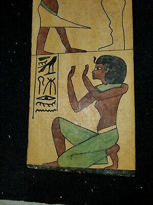 Ancient 1000 BC Egyptian sarcophagus fragment