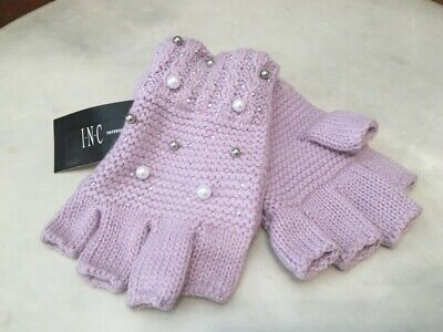 INC Lilac Shine Like the Night Pearl Fingerless Texting Gloves Women's O/S NEW