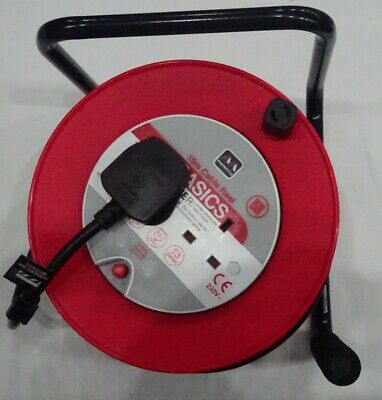 15 METER  2 WAY EXTENSION LEAD U.k. Plug 13amp  Reel with  flexi cord