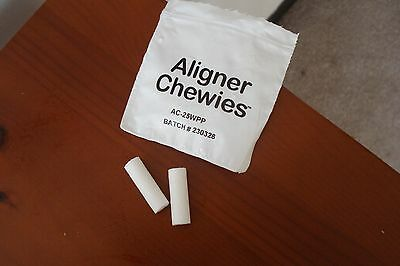 10 Packs CLEAR ALIGNER CHEWIES - WHITE - UNSCENTED - FREE SHIPPING
