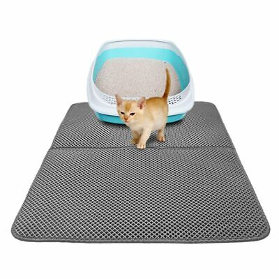 Foldable Cat litter Mat Double Layer Pad Large Flexible Trapping for Box Pan