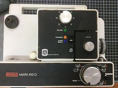 Eumig Mark 610D Dual 8 Silent Movie Projector with Manual and leather cover