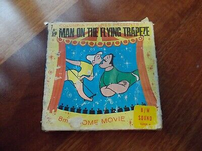 """Vintage, Collectible 8mm Movie """"Man On The Flying Trapeze"""" by Columbia Pictures"""