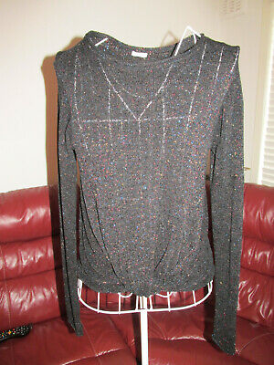 Girls Black Sparkly Next Jumper Age 12 Years