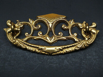 """Antique Style Victorian Drawer Pull, Furniture Bail, Solid Brass, NOS, 3"""" CC"""
