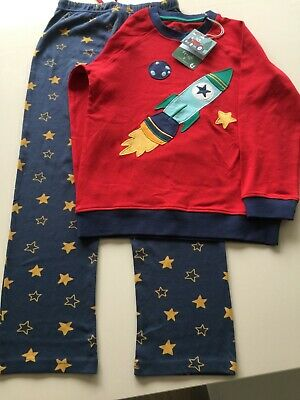 Frugi Love Organic Boys Pyjamas / Lounge Suit  7-8 Years Bnwt