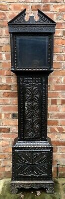 Antique Carved Longcase Grandfather Clock Case