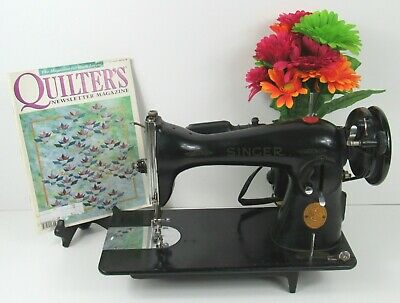 Original Singer 15-91 Sewing Machine For Parts or Restoration