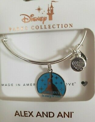 Disney Parks ALEX & ANI bracelet CINDERELLA Believe in every Wish *silver*NEW
