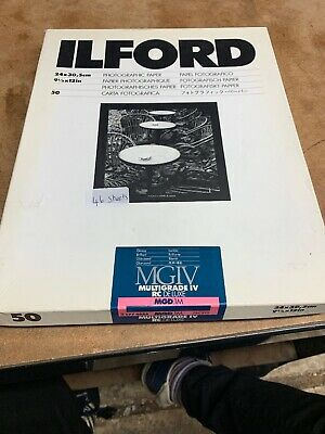 """Ilford MGIV RC Deluxe  MGD.1M 9.5 x 12  46 Sheets & 8"""" X 10"""" 27 Sheets Pre Owned"""