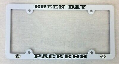 Green Bay Packers Thin Auto Truck Plastic License Plate Tag Frame Free Ship
