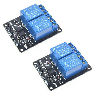 5V Two 2 Channel Relay Module With optocoupler for PIC AVR ARM
