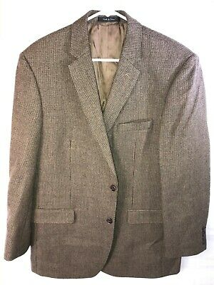 Men's Houndstooth Brown Slim Fit Lauren Ralph Lauren Blazer Jacket.  Size 46 L.