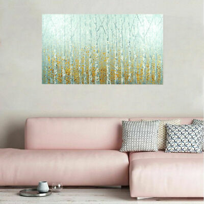 Modern Abstract Hand-painted Art Canvas Oil Painting Home Decor Birches (Framed)