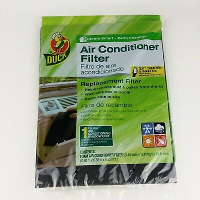 NEW SUPPORTED FOAM ROOM AIR CONDITIONER FILTER CUT TO FIT REUSABLE UNIVERSAL