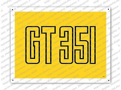 Tin Sign #0663 To Suit Ford Xb Gt Falcon Yellow Blaze Enthusiast